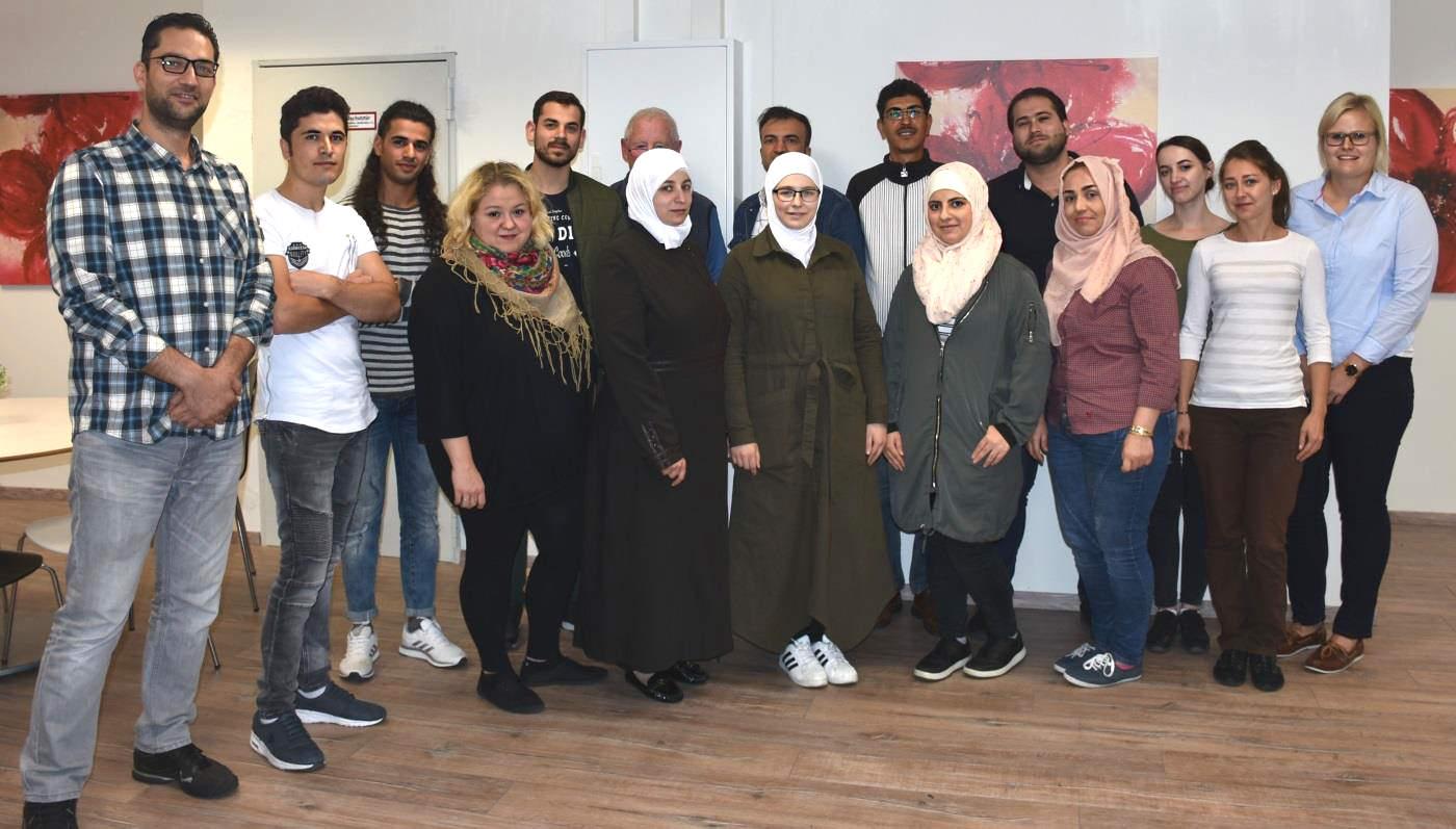 Teilnehmer des ersten B2-Deutschkurses in unserer Außenstelle in Weißenburg